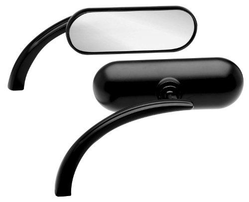Micro Diecast Mini Oval Mirror - Arlen Ness Micro Die-Cast Mini Oval Mirror - Left - Black 13-055