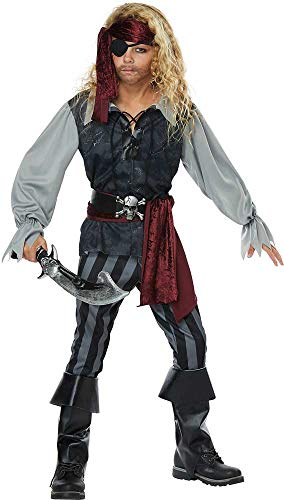 Deep Sea Treasure Hunter Scoundrel Pirate Shirt Costume Attire Child Boys -