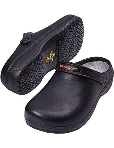 주방 남성 여성을위한 JinStar Unisex 블랙 미끄럼 요리사 신발 ..