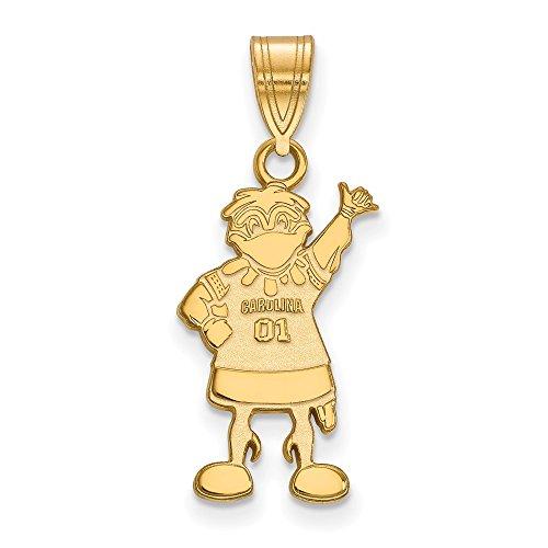 10k Yellow Gold University of South Carolina Gamecocks Mascot Full Body Pendant L - (19 mm x 11 mm)