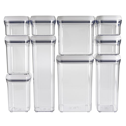 OXO Good Grips 10-Piece Airtight Food Storage POP Container Value Set (Pasta Storage Containers Food)