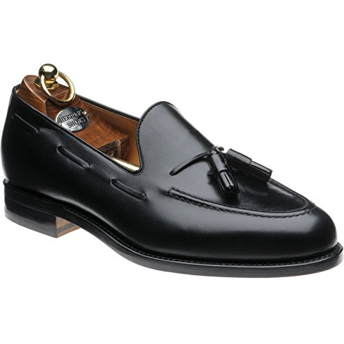 Herring Barcelona II Tasselled Loafers in Black Calf rAEN7