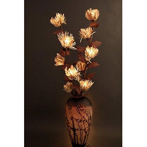 [M$M Shop The Light Garden NE-RAF Natural Elements Lighted Raffia Flowers with 20 Bulbs, 38-Inch] (Halloween Animatronics Sale)