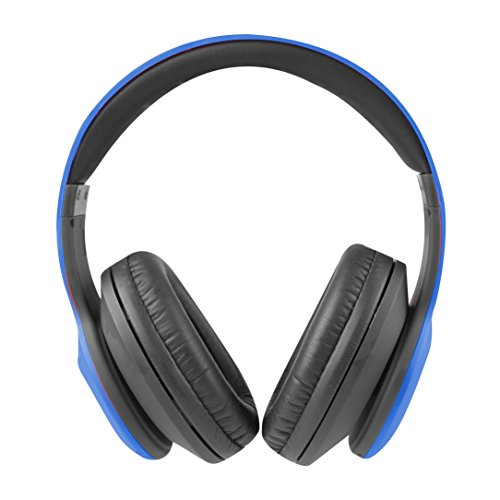 - Altec Lansing MZX300-BLU Wireless Over Ear Bluetooth Headphones with Microphone, Blue