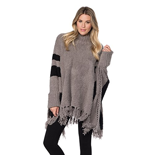 Barefoot Dreams Cozychic Beach Poncho (Warm Grey)