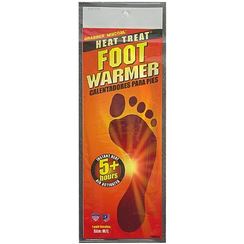 Heat Treat Foot Warmer - Grabber Heat Treat Foot Warmer Insoles 3-Pack - Medium/Large by Grabber