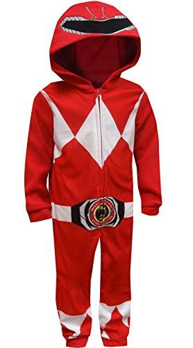 Power Ranger Boys' Big Red Critter Pajama, 10 ()
