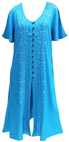 La Leela - Camisola - Túnica - Sin mangas - opaco - para mujer turquesa