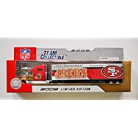 $24 » Fleer 2002 LIMITED EDITION NFL Team Collectible 1:80 Scale Diecast Kenworth Tractor Trailer SAN FRANCISCO 49ERS