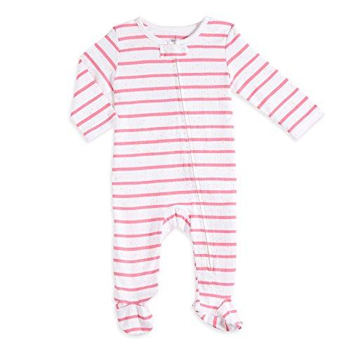 aden by aden + anais Baby Long Sleeve One-Piece, Stripe Dot, (Aden Stripe)