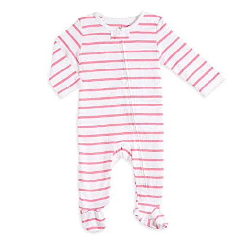aden by aden + anais Baby Long Sleeve One-Piece, Stripe Dot, 0-3M