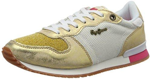 Pepe Jeans London Gable New Caviar, Zapatillas para Mujer Blanco (White)