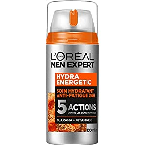 L'Oréal Men Expert – Hydra Energetic – Soin Hydratant 24H Anti-Fatigue pour Homme – 5 Actions – 100 ml