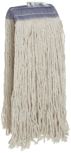 Rubbermaid Commercial FGF55800WH00 Premium 8-Ply Cut-End Blend Mop, 24-ounce, 5-inch White Headband by Rubbermaid Commercial Products