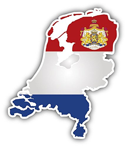Netherlands Map Flag Coat Of Arms Vinyl Decal Bumper Sticker 4'' X 5'' Netherland Coat Of Arms