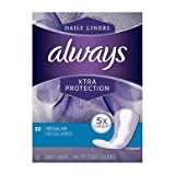 Always Xtra Protection Regular Daily Liners 50 ea (Pack of 2)