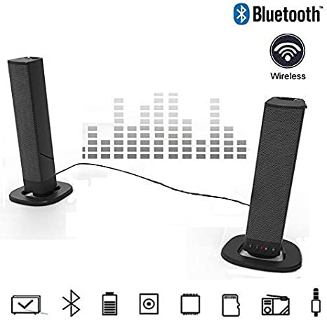 Sistema De Barra De Sonido De TV Inalámbrico Barra De Sonido 10W 20W Caja Portátil Columna Altavoz Bluetooth USB Boom AUX Reproductor De Música MP3 De La Caja 3D Estéreo