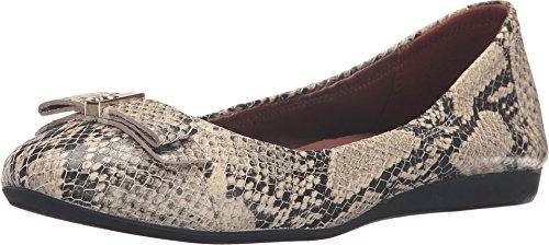 Roccia Snake - Cole Haan Women's Elsie Ballet II Roccia Snake Print Leather Flat 7.5 B (M)