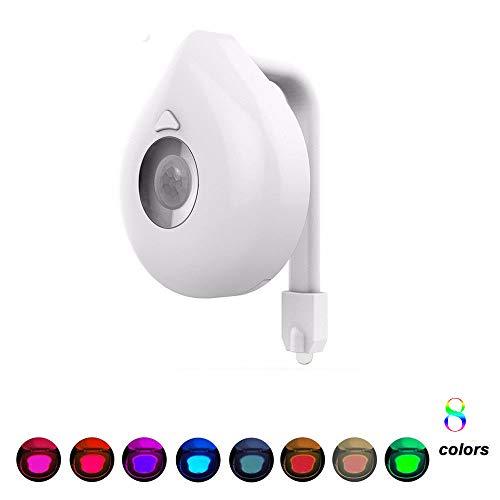 Toilet Seat Lighting 8Colors LED Toilet Night Light Motion Activated Sensor