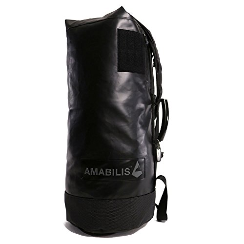 AMABILIS Water Resistant, Heavy Duty Dave Duffel Bag, 25 x 12 Inches - 46 liters/2827 cu. In, Black/Tactical by Amabilis