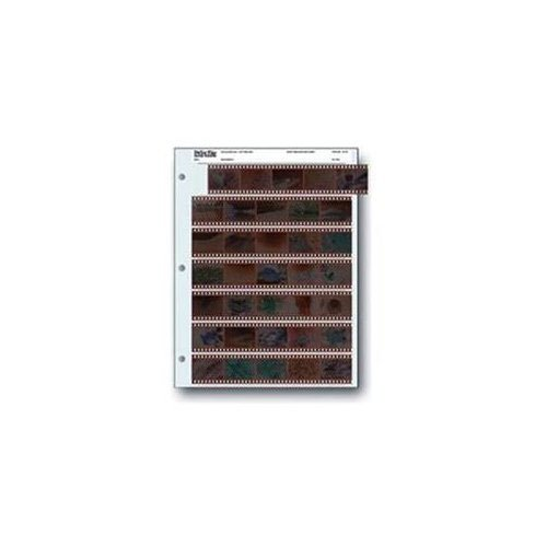 Archival 35mm Size Negative Pages Holds Seven Strips of Five Frames - 100 Pack (Photo Storage Negative)