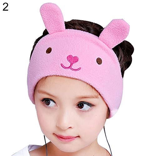 lriumpexplo Fashion Travel Sleep Mask Headset Cute Cartoon Animal Soft Fleece Headphone Headband Rabbit