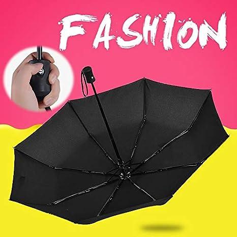 WanTo Paraguas Plegable Automático Lluvia Mujeres ...