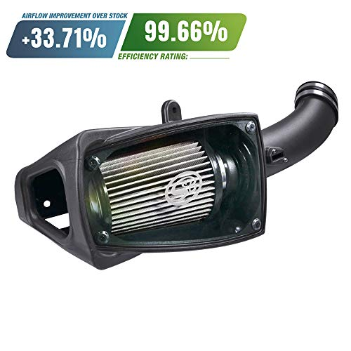 S&B Filters 75-5104D Cold Air Intake for 2011-2016 Ford Powerstroke 6.7L (Dry Extendable Filter)