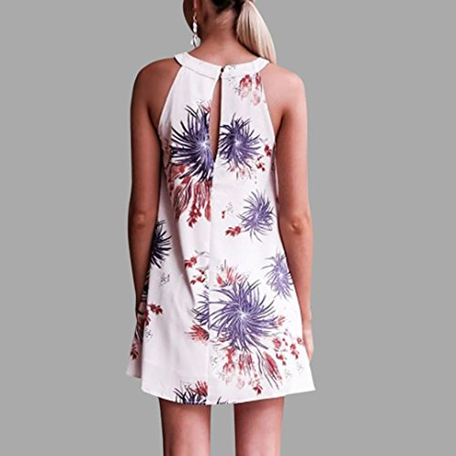 gaddrt Fashion Damen Kleider Sommer Sexy Blumendruck Sleeveless ...
