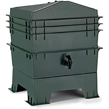 Chef's Star 3-Tray Stackable / Expandable Recycled Plastic Odorless Worm Composter