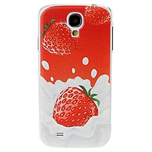 Strawberry Milk Pattern Plastic Case for Samsung Galaxy S4 I9500