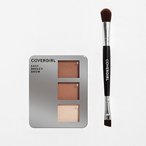 COVERGIRL Easy Breezy Brow Powder Kit, Rich Brown (packaging may vary)