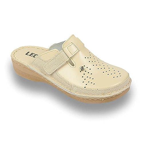 43d54095 Nuevo LEON V261 Zuecos Zapatos Zapatillas de Cuero para Mujer - www ...