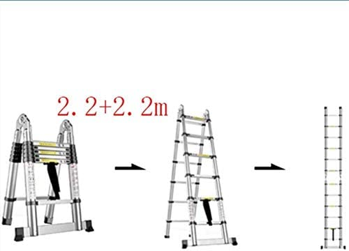 ZGQA de tijera Escalera, multi-función escalera plegable de ...