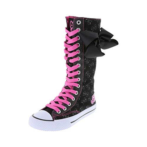 Nickelodeon Shoes Black Girls' JoJo Legacee Knee-High Sneaker 1 Regular (Shoes High Canvas)