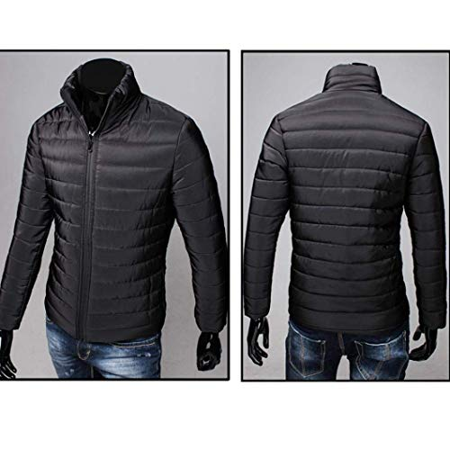Taglie M B Giacca Warm Abiti Jacket Trapuntato Con Down Size Cappuccio Parka Da Uomo schwarz color Comode Winter qqf6tF