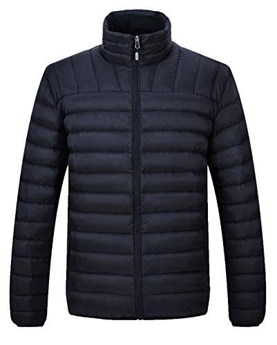 - TBMPOY Thicken Cotton Coat Quilted Down Jacket for Men Winter Outerwear(Black,us S)