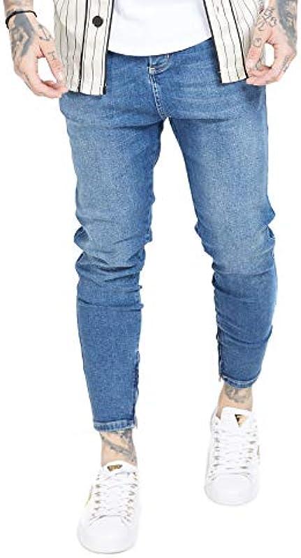 Sik Silk dżinsy męskie Drop Crotch Denim SS-15105 Midstone Blue: Sik Silk: Odzież