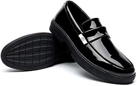 パテントレザーフォーマルシューズの快適なアウトソールロートップスリップメンズファッションオックスフォードカジュアル 快適な男性のために設計