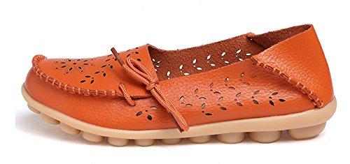 Flat Orange VenusCelia Comfort Womens Walking Loafer Breathable Womens VenusCelia Tangerine U81wYY