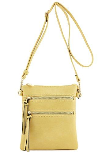 Functional Multi Pocket Crossbody Bag Yellow ()