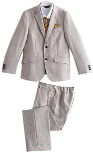 Catherine Cottage Big Boys' Formal 4 Piece Suit Set wth Shirt Tie Pants 20 Beige by Catherine Cottage
