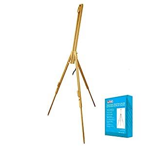 US Art Supply HARBOR Basic Portable Wood Field Sketch Easel with Foldable Tri-Pod Legs