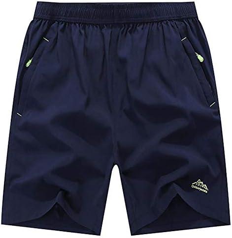 JINSHI Men's Outdoor Quick Dry Lightweight Sports Shorts Zipper Pockets
