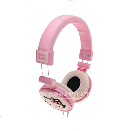 XHKCYOEJ Headset Stereo Headset/Headphones/Headphones/Children/Environmental/Music/Computer,Pink: Amazon.co.uk: Electronics