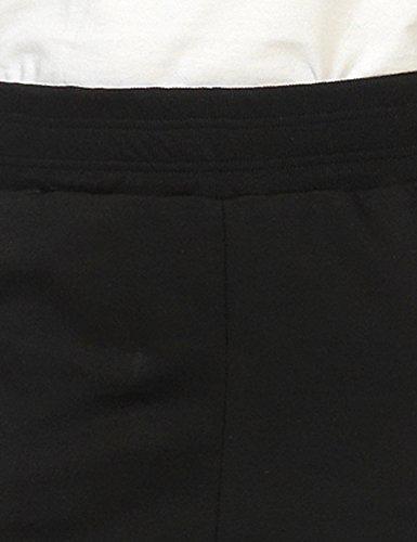 Koolfly Com.Fy Collection Women's Jet Women's Grey-Blue Pants 100% Cotton Black