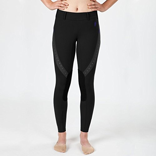 Irideon LARGE HORSE RIDING ATHLEISURE TREND KIDS MESH TECH TIGHT BLACK
