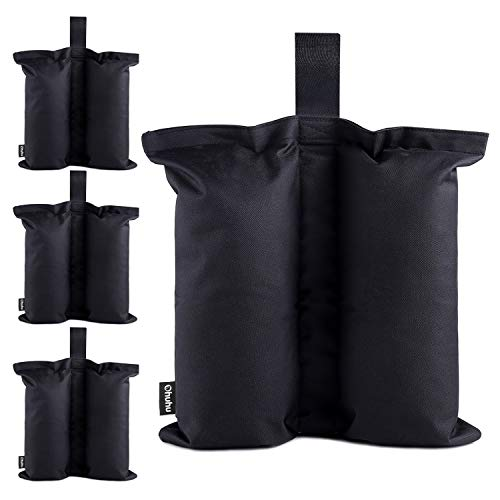 Ohuhu Canopy Weight Bags for Pop up Canopy Tent, Sand Bags Leg Weights for Instant Outdoor Sun Shelter Canopy Legs, 4-Pack (Bags Only, Sand Not Included) by Ohuhu