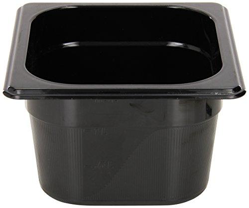Rubbermaid Commercial Hot Food Pan, 1/6 Size, Black (Black Pan Plastic Food)
