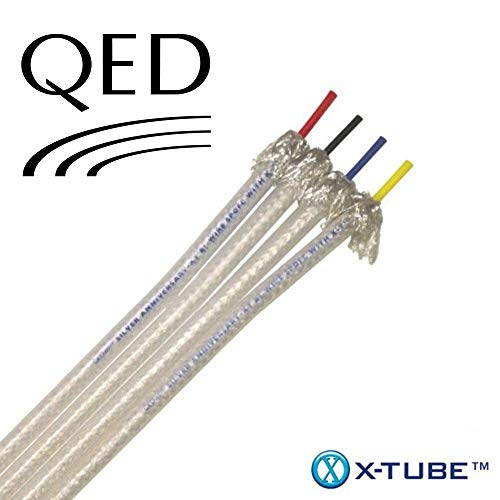 QED Silver Anniversary XT Bi-Wire Speaker Cable with X-Tube(TM) technology (2 metres, Bi-Wire Unterminated)